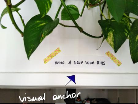 Setting visual anchors