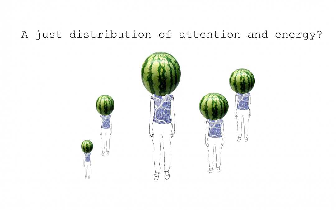 A just distribution of energy and attention